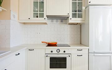 Dargestellt wird eine Küchenzeile mit einer Pfanne.