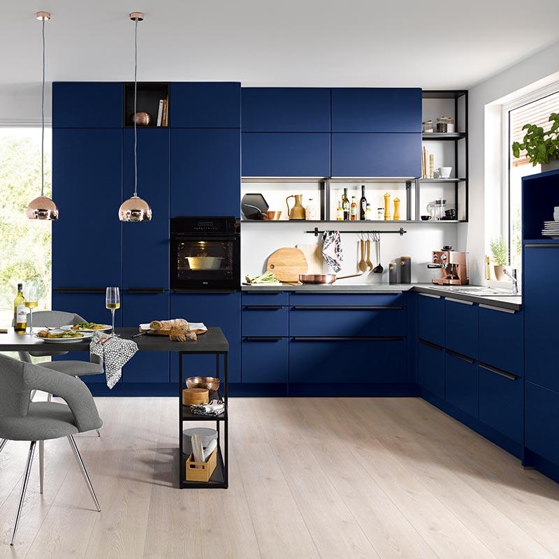 Kammer Küchen | Schüller | siena L282M Aquablau samtmatt
