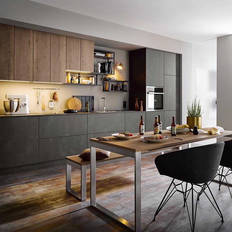 Kammer Küchen | Schüller | targa L587 Stahl dunkel