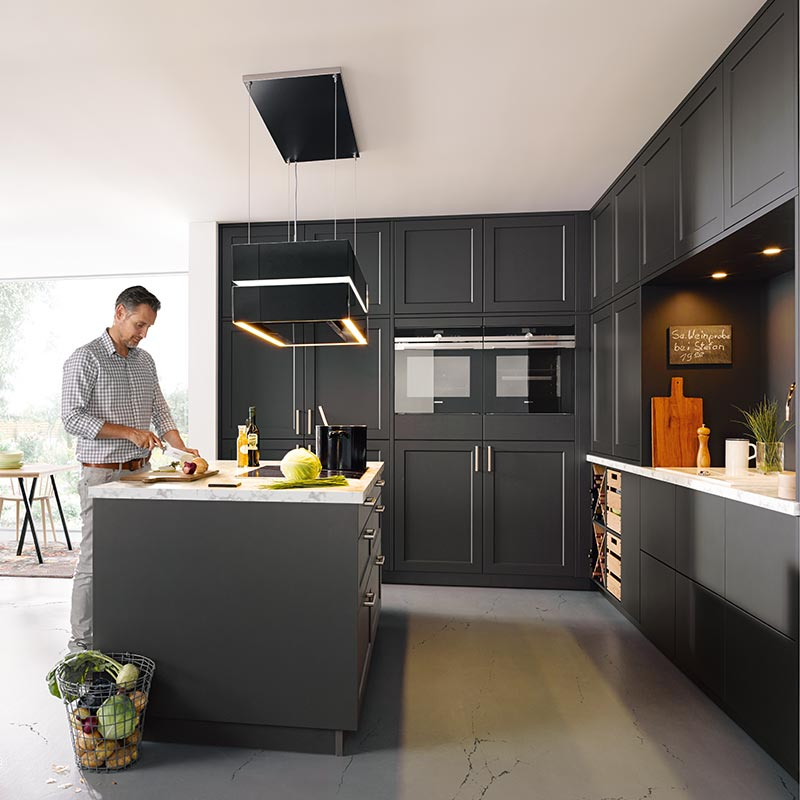 Kammer Küchen | Schüller | vienna L190 Lava black satin