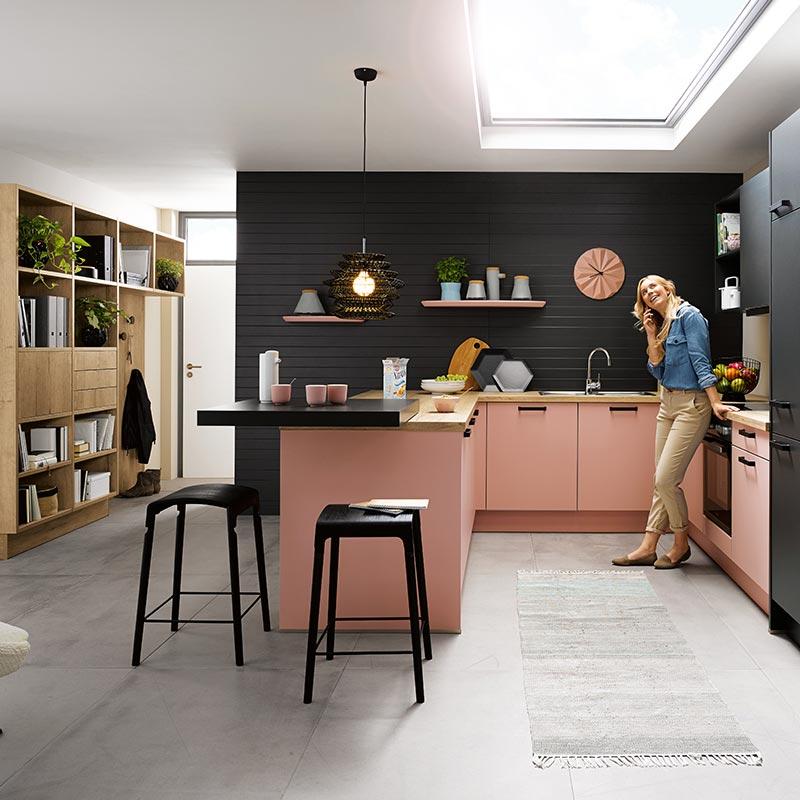 Kammer Küchen | Schüller | biella L385 Pastellrosé-Satin